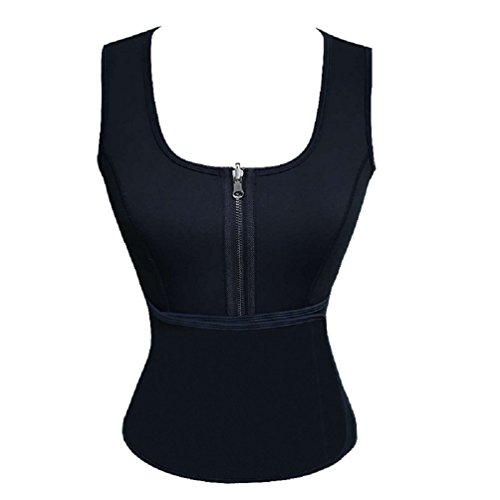Ausom Womens Neoprene Corset Vest with Adjustable Waist Trimmer Belt for Fat Burning and Weight Loss