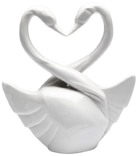 Appletree Design The Perfect Wedding Swan Cake Topper, 5-3/4-Inch