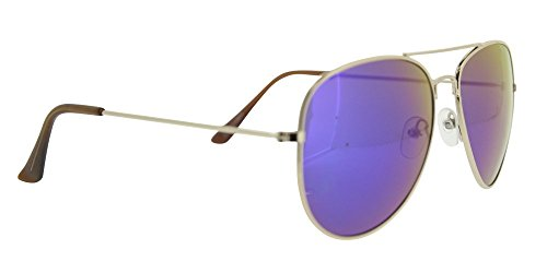 o violeta unisex metal chica con de aviador chico espejo Mahui montura Gafa y y modelo con color cristales sol funda en azul verde para incluida a1HwRq0