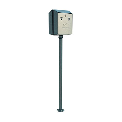 Rubbermaid Commercial FGSSSM Steel Smoker's Station In-Ground Pole Mount with Hardware for R1012