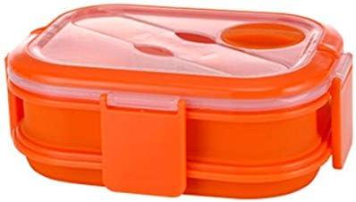 Box Lunch Doble Capa de Silicona Plegable Caja de Bento 1600ml Horno de microondas Almuerzo Caja Plegable de Almacenamiento de Alimentos de contenedores Lunchbox Bento Box ZHQHYQHHX: Amazon.es: Hogar