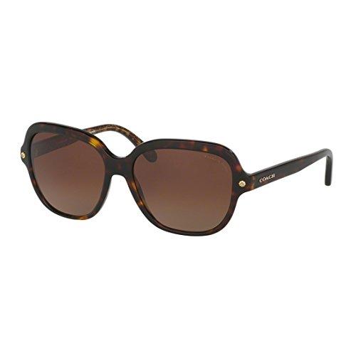 COACH 0HC8192 56mm Dark Tortoise/Brown Gradient Polarized Fashion - Frames Sunglass Coach Prescription