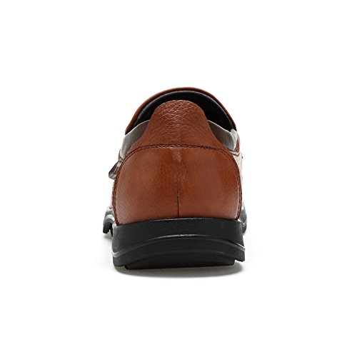Bussiness Leather QYY Brown Comfy 2030 Smart Casual Shoes Leisure New Mens EU Cozy 41 qwCzIwx4g