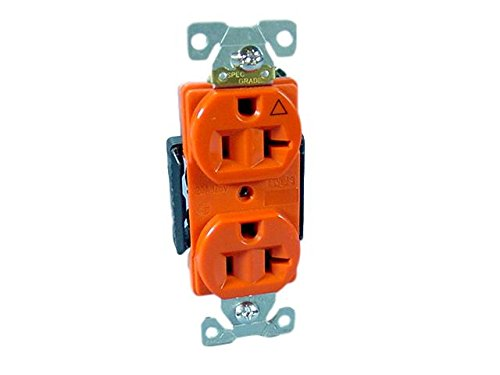 Cooper Wiring Devices IG5362RN Isolated Ground Premium Industrial Grade Receptacle 20A-125V NEMA 5-20R, (Isolated Ground Receptacle)