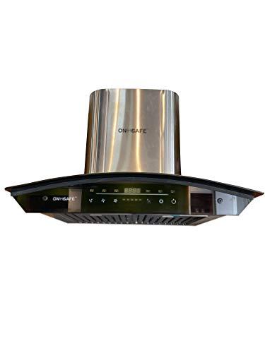 Onsafe Modular Kitchen Chimneys 60 Cms 850m3/h Suction Power, Push Control, Baffle Filter Chimney for Modular Kitchen (Black)