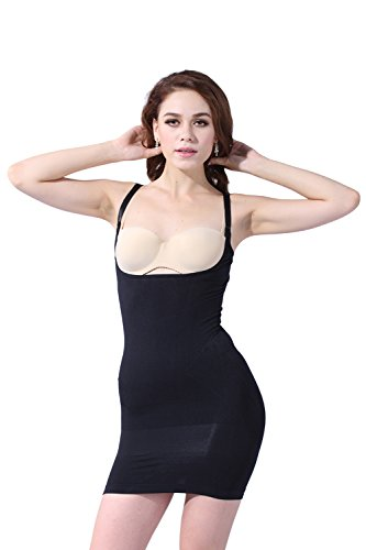Franato femmes-gorge galbant de porter votre propres Slip sans coutures Body Shaping Fille de Ferme -  Noir - L