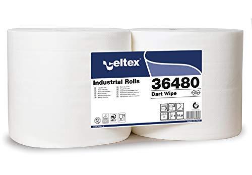 Celtex Dart Wipe industriële handdoeken, 800 scheuren, 100% pure cellulose, 2 stuks