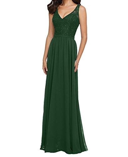 Braut Dunkel La Damen V Lang Abendkleider Ausschnitt Navy Blau Ballkleider Dunkel Spitze Gruen Rock Brautjungfernkleider mia 5n5qw7p6