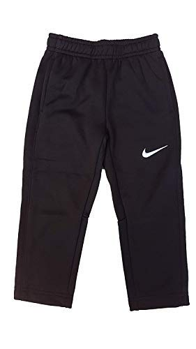 Nike Toddler Boys Therma-FIT KO Fleece Pants (2T, Black/White/Black) by Nike