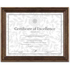 DAX N1818N3T Antique Colored Document Frame w/Certificate, Plastic, 8 1/2 x 11, ()