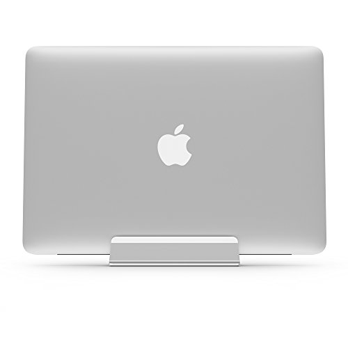 UPPERCASE KRADL Pro Small Profile Aluminum Vertical Stand for Retina MacBook Pro 13'' or 15'' (2012 to 2015 Releases), Silver/White by UPPERCASE (Image #3)