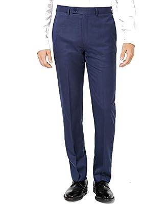 Calvin Klein Men's Pants Navy 28x30 Slim-Fit Flat Front Blue 28