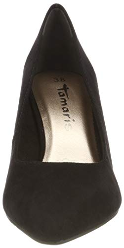 Black Tamaris Closed toe 21 Suede Women's 22412 Pumps black 4 nRq1qYBr