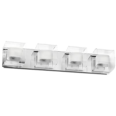Dainolite Lighting V6015-4W-PC 4 Light Bathroom Light, Polished - Polished Chrome Direct Wire Contemporary Styling - bathroom-lights, bathroom-fixtures-hardware, bathroom - 31ur7iuCQiL. SS400  -
