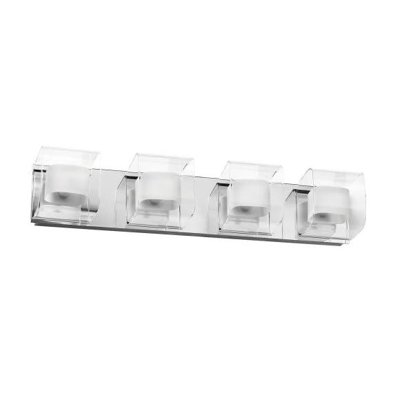 Dainolite Lighting V6015-4W-PC 4 Light Bathroom Light, Polished - Polished Chrome Direct Wire Contemporary Styling - bathroom-lights, bathroom-fixtures-hardware, bathroom - 31ur7iuCQiL. SS570  -
