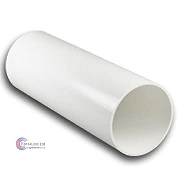 Plastic Ducting Tube Pipe Solid Extractor Fan 4' 5' 6' Dia 350mm 500mm 1m 2m (150mm 6' dia x 350 mm) fans4less
