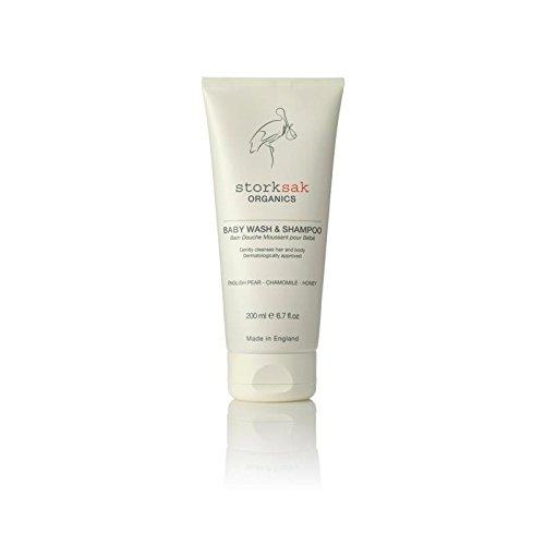 Storksak Organics Baby Wash & Shampoo 200ml - Pack of 4 by StorkSak