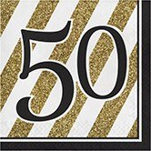 Pack of 192 Gold and White Striped with Black