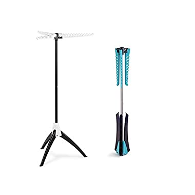 Above Edge AETDRB Colapsible Tripod Drying Rack, Blue