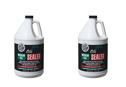 Glaze 'N Seal 163 Clear Olé Mexican Tile Sealer Gallon, 128 oz. Plastic Bottle (Pack of 1) (2-(Pack))