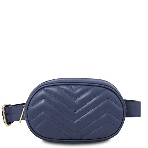 Tuscany Leather TL Bag Marsupio in pelle morbida - TL141699 (Talpa Scuro) Blu Scuro