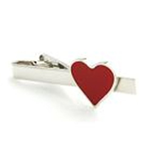 [Mondaily - Red Heart Valentines Day Love Cupid Gift Tie Clip Silver Black Wedding Bar Clasp] (Cats Musical Costume Rental)