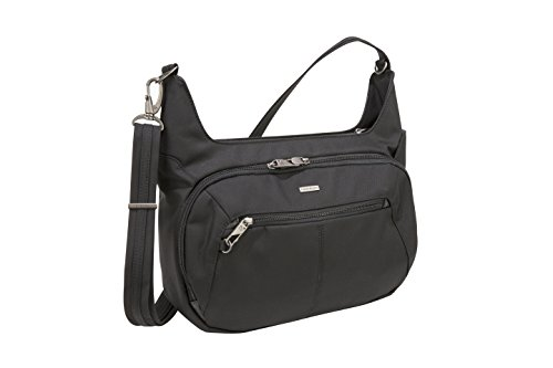 Travelon Anti-Theft Concealed Carry Hobo Messenger Bag, Black