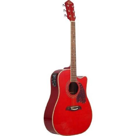 Washburn (ワッシュバーン) Oscar Schmidt (オスカーシュミット) OG2CETR アコースティックギター - Transparent Red エレクトリックアコースティックギター エレアコ ギター(並行輸入) B00J6VTGMW