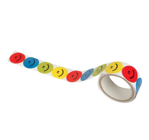 1.5'' ASSORTED COLOR SMILE FACE STICKERS, Case of 50 by DollarItemDirect