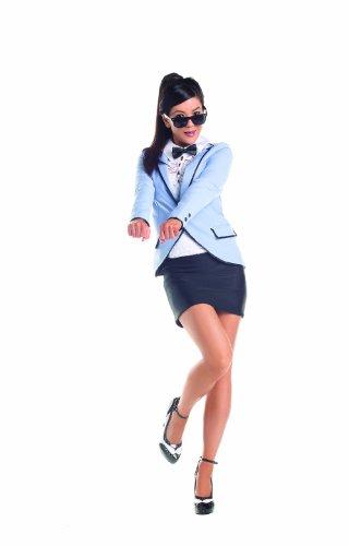 Party King Korean Pop Star, Blue, Medium (Womens Korean Pop Star Costume)