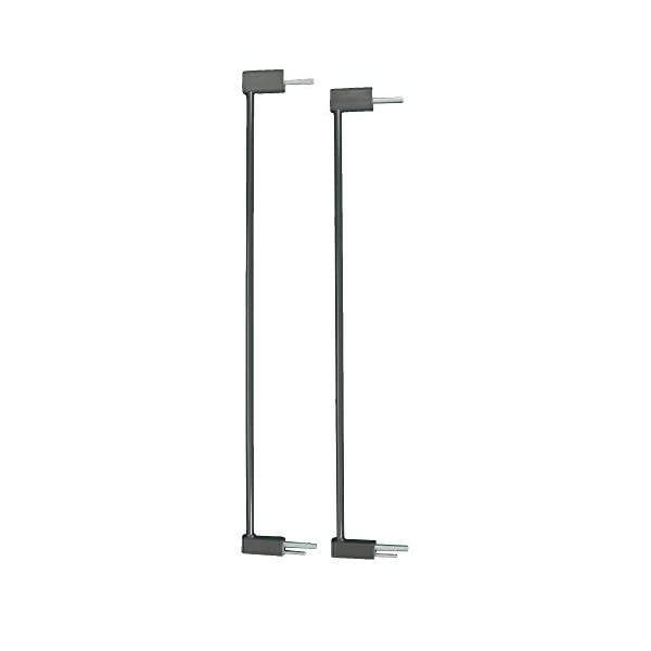 QDOS Designer Gate Extensions for Crystal and Spectrum Pressure Mount Baby Gates   Slate – Allows for use in Wider Door Openings – Each Extension adds 2.75″ to The gate – Includes 2 Extensions