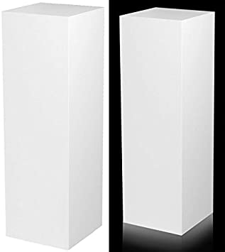 Xylem Design Laminate Pedestal – 15 X 15 Top – 36 Tall – White
