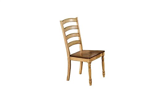 Winners Only, Inc. Quails Run 19 in. Ladder Back Side Chair - Set of 2 (Wheat Dining Chairs Back)