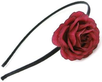 リトルムーン カチューシャ エモント ヘッドアクセ ヘアアクセサリー 髪飾り 1 ワインレッド