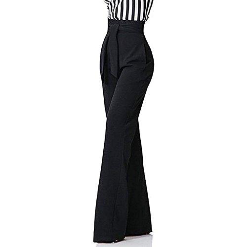 Coulisse Colori Baggy Elegante Festivo Pantaloni Con Lunga Pantaloni Pantaloni Tempo Giovane Libero Larghi Tuta Nero Ragazze Solidi Pantaloni Fashion Moda Donna nHpxqCzw0