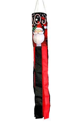 Toland Home Garden 162517 Santa Joy Decorative Windsock, Multicolor