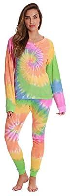 #followme Women's Tie Dye Two Piece Thermal Underwear Set