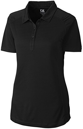 Cutter & Buck LCK02563 Women's CB Drytec Northgate Polo Black Small