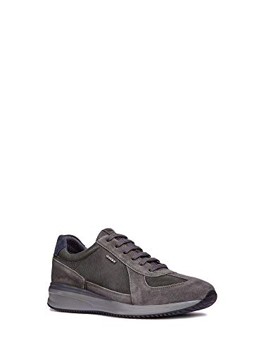 Gris U Dennie Homme Sneakers anthracite Basses C9004 B Geox TYdw6qT