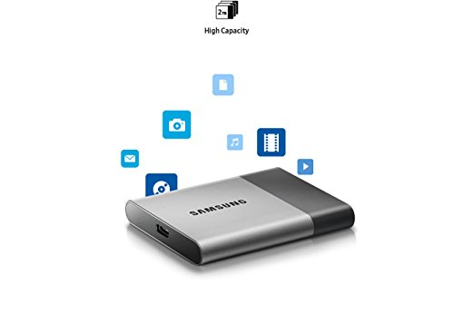Samsung T3 Portable SSD - 250GB - USB 3.1 External SSD (MU-PT250B/AM) (Renewed) by Samsung (Image #2)