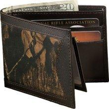 Men's Mossy Oak Billfold - One Side Leather Brown/One Side (Mossy Oak Bi Fold Wallet)
