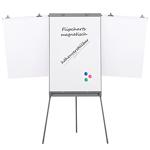 Swansea Adjustable Flipchart Easel Dry Erase Boards Magnetic Tripod Whiteboard 40X26 inches with 2 Side Arms by SwanSea (Image #6)