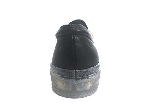 On SOUND103NERO Fabbrica Donna colli Slip Pelle Scarpa Dei Platform qRXpwxO5