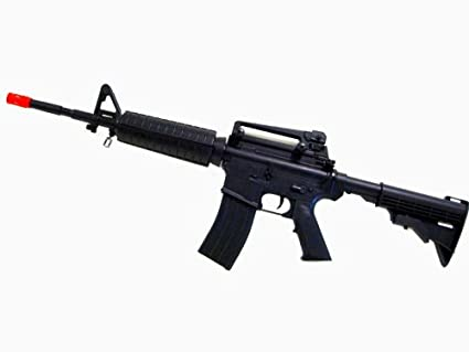 Starter Pack - M4 M16 Metal Gear Box 380 fps Airsoft Full Auto Electric  Rifle W/ 8000 BBs