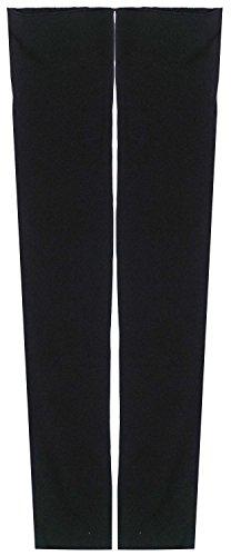 Women Stretchy Long Sleeve Fingerless Gloves, Black, One Size ()