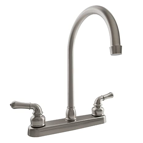 Attrayant Dura Faucet DF PK330HC SN J Spout RV Kitchen Faucet In Brushed Satin