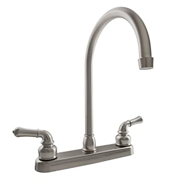 Amazon.com: Dura Faucet (DF-PK330HC-SN) J-Spout RV Kitchen Faucet in ...