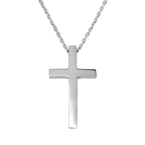 (Loralyn Designs Large Men's Stainless Steel Cross Pendant 24 Inch 3mm Steel Chain)