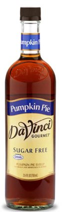 DaVinci Gourmet Pumpkin Pie SUGAR FREE Syrup w/ Splenda 750 (Da Vinci Pumpkin Pie)