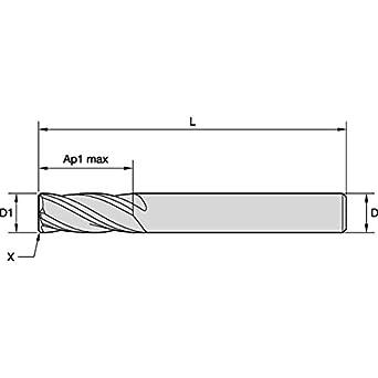 WIDIA Hanita I4S0156T056R VariMill I4S GP Roughing//Finishing End Mill TiAlN Coating 4-Flute 0.5625 LOC 0.1563 Cutting Dia WIDIA Products Group 5879135 0.5625 LOC Carbide 0.1563 Cutting Dia RH Cut